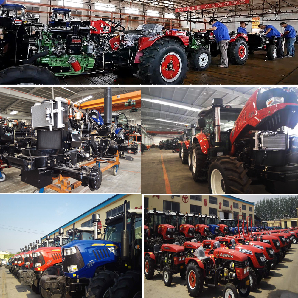 Hydraulic Steering 100HP Agricultral Tractor with Front End Loader
