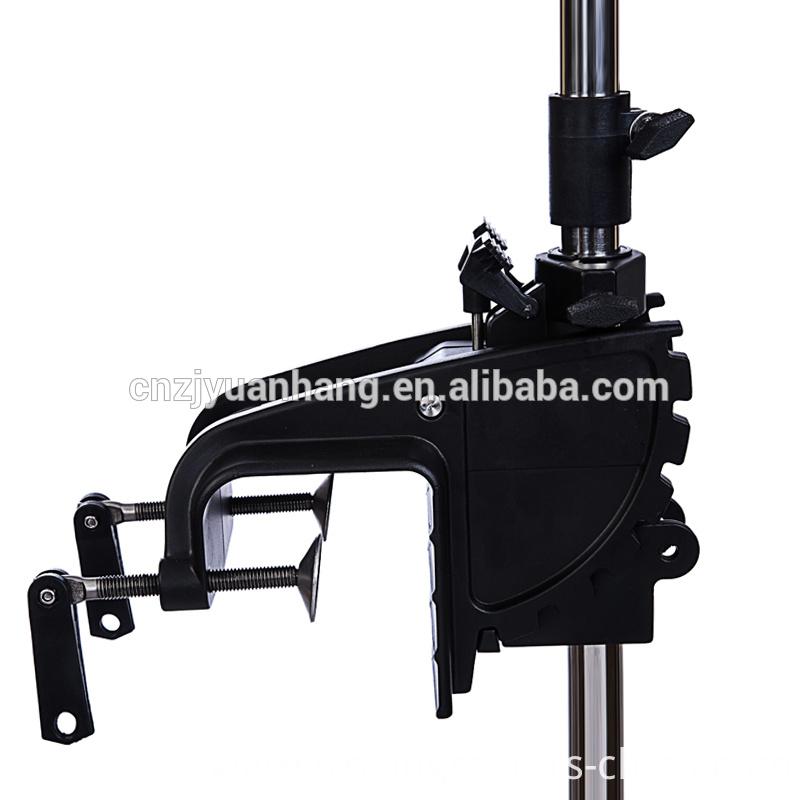 Hangkai 12v transom mounted 55 pound thrust electric for Trolling motor shaft length