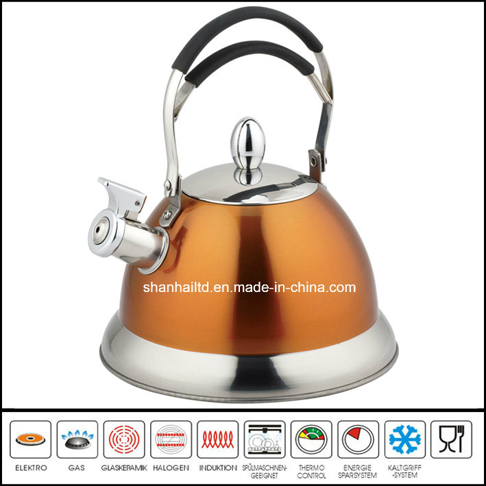 Stainless Steel Wire Handle Color Painted Whistle Kettle