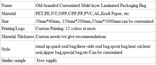 Muti-Liminated Custom Printing Popsicle Packaging Bag