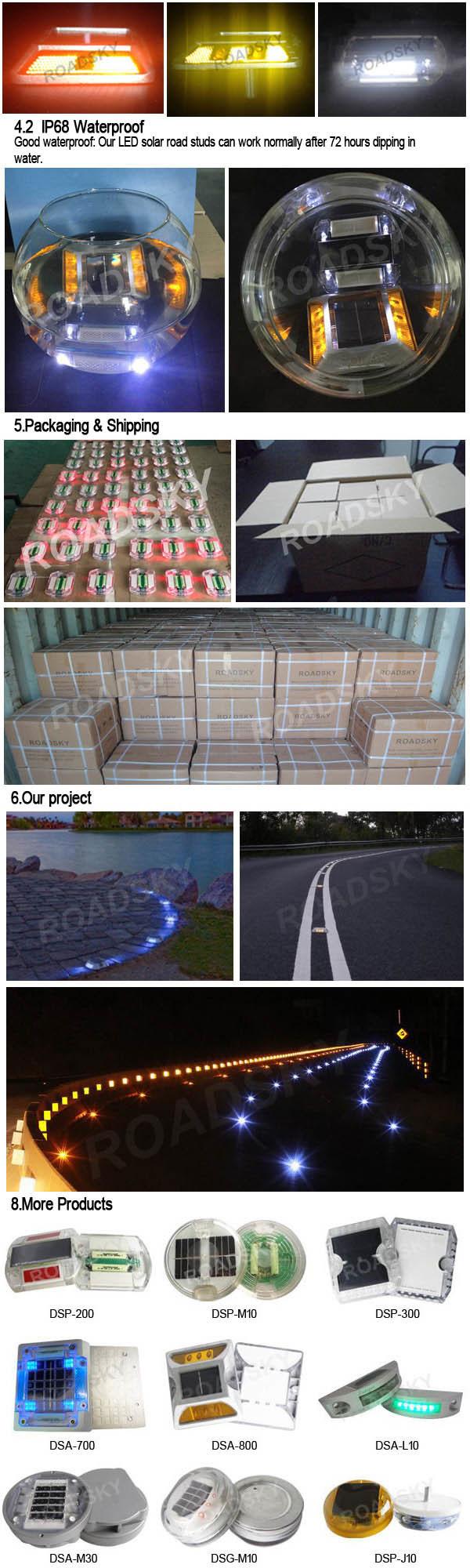 Driveway Raised Pavement Waterproof Solar Road Light LED Marker
