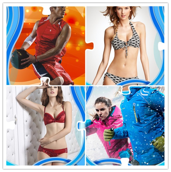 Strip White Red Black Blue Green Printing Fabric for Sportswear (HD1401115)