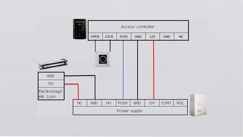 china slim electro magnetic lock electric magnetic locks 12v 24v rh bossgoo com Light Switch Wiring Diagram Simple Wiring Diagrams