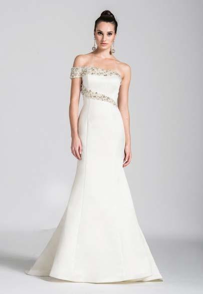 Beaded One Shoulder Evening Dress