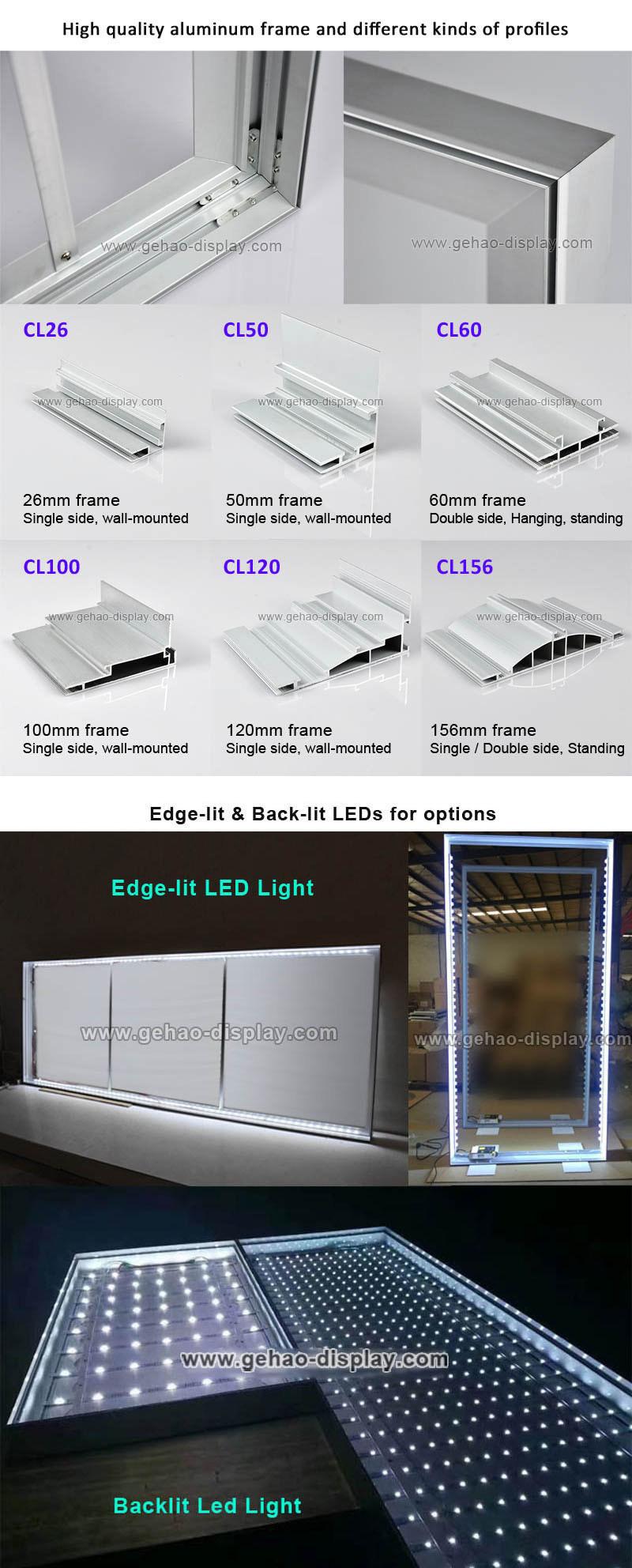 Advertising Aluminum Frame LED Fabric Light Box