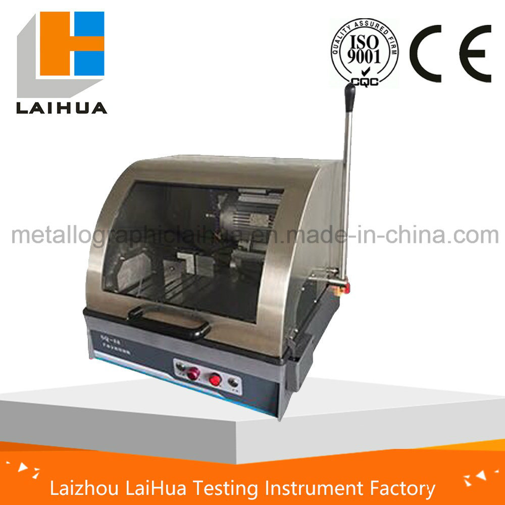 Metallographic Table Feed Manual Abrasive Saw Cutters/Heavy Duty Abrasive Cut-off Saw with Quick Clamps
