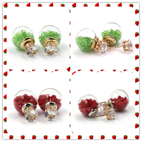 Personal Glass Bottle Jewelry Stud Earring Wholesale