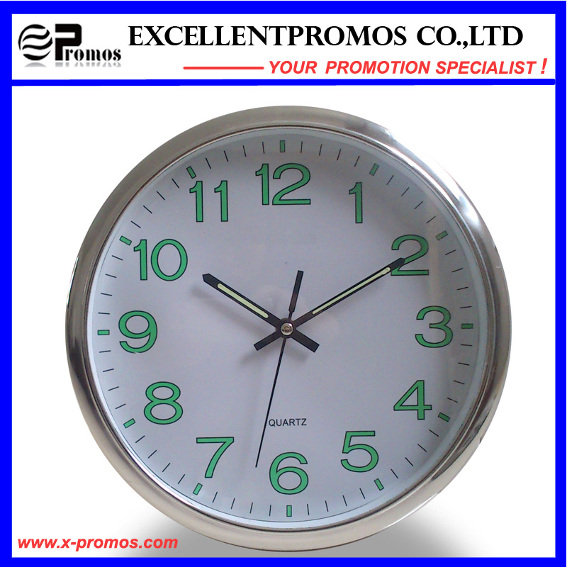 12inch Logo Printing Round Plastic Wall Clock (EP-Item12)