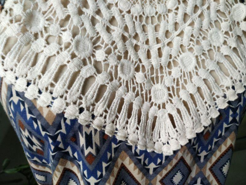 Summer Hot Sales Strap Lace Geometry Pattern Ladies Dress