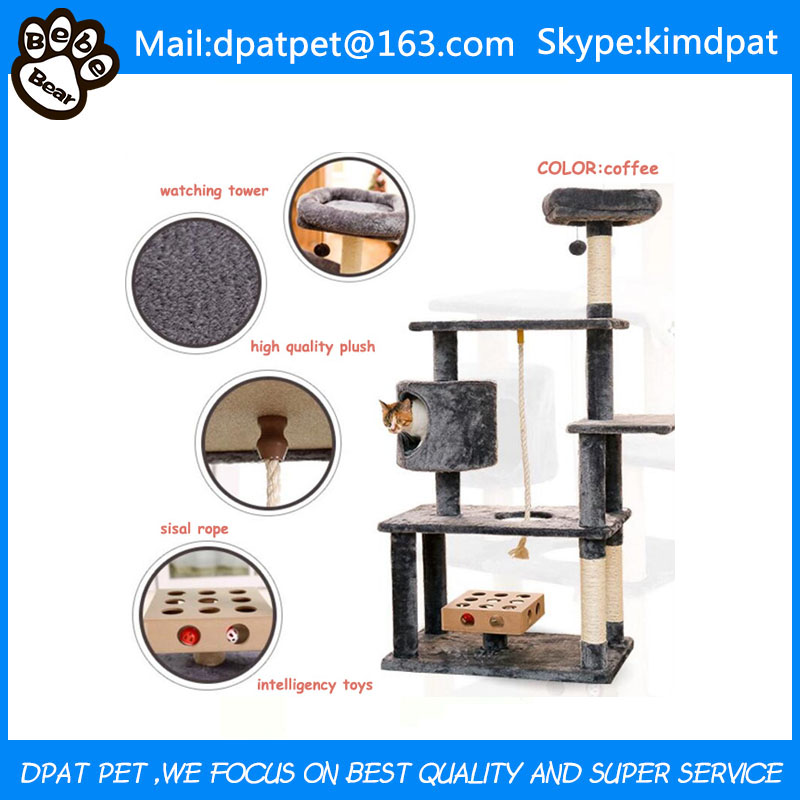 Factory Wholesale Pet Product Cat Tree Sale with Toys