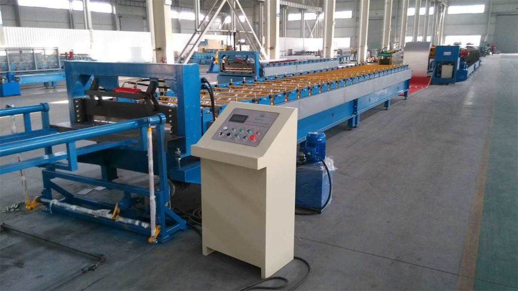 Metal Corrugated Trapezoidal Roof Sheet Roll Forming Machine