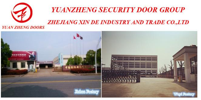 Main Wooden Deisgn Color Steel Security Door
