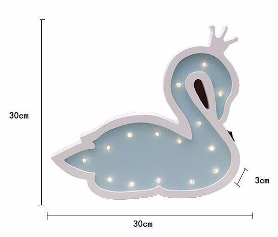 Cartoon Swan Energy Saving Lamp