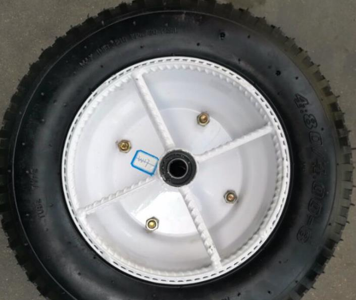 400-8strong Pneumatic Rubber Tyre Wheel Durable Air Wheel
