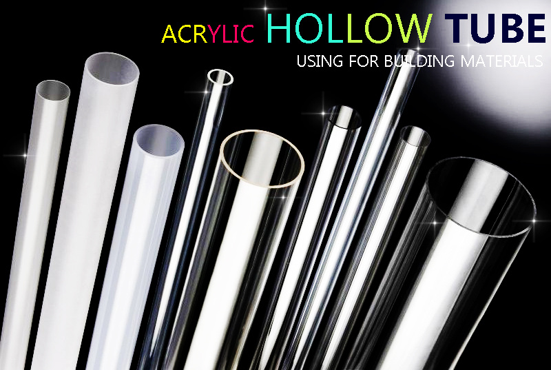 Hollow Plastic Rod Acrylic Tube with Different Types and Colors
