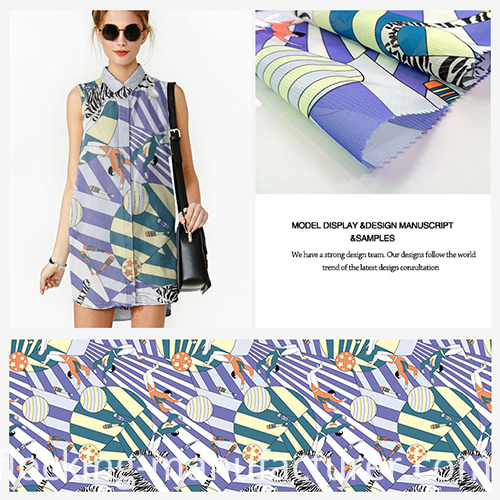 Fashionable Polyester Digital Printed Garment Fabric