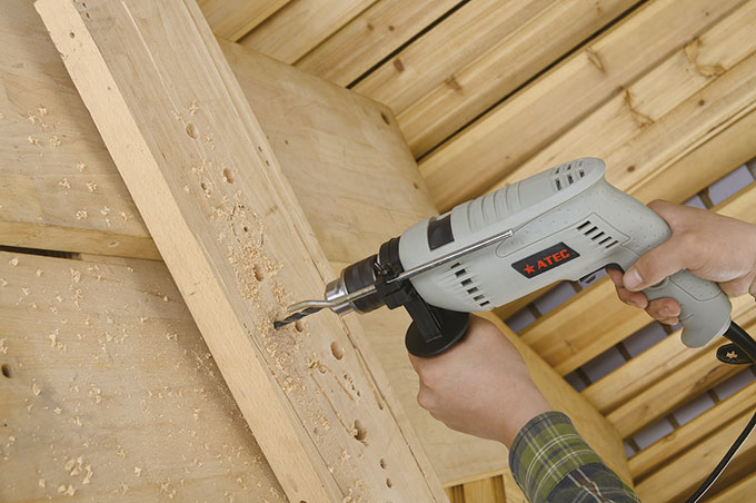 13mm Hand Power Electric Tool Impact Driver Drill (AT7216B)