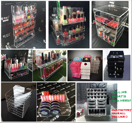 OEM Acrylic Cosmetic Makeup Organizer Display Box