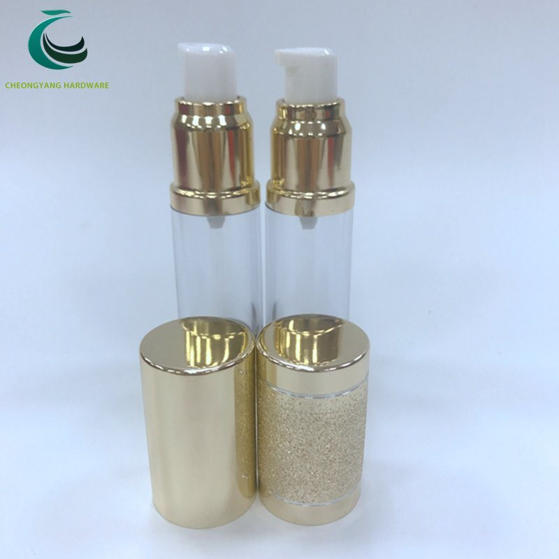 Shiny Silver Gold Luxury Eye Cream Skincare Airless Pump Bottle for Wholesale