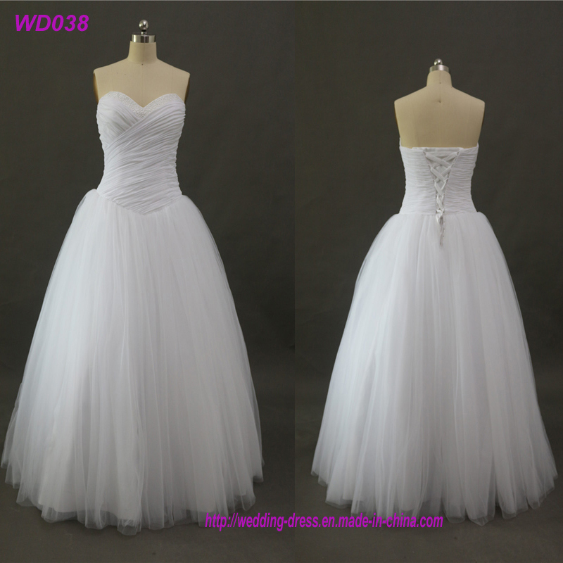 Party Celebrity Summer White Tulle Wedding Dresses