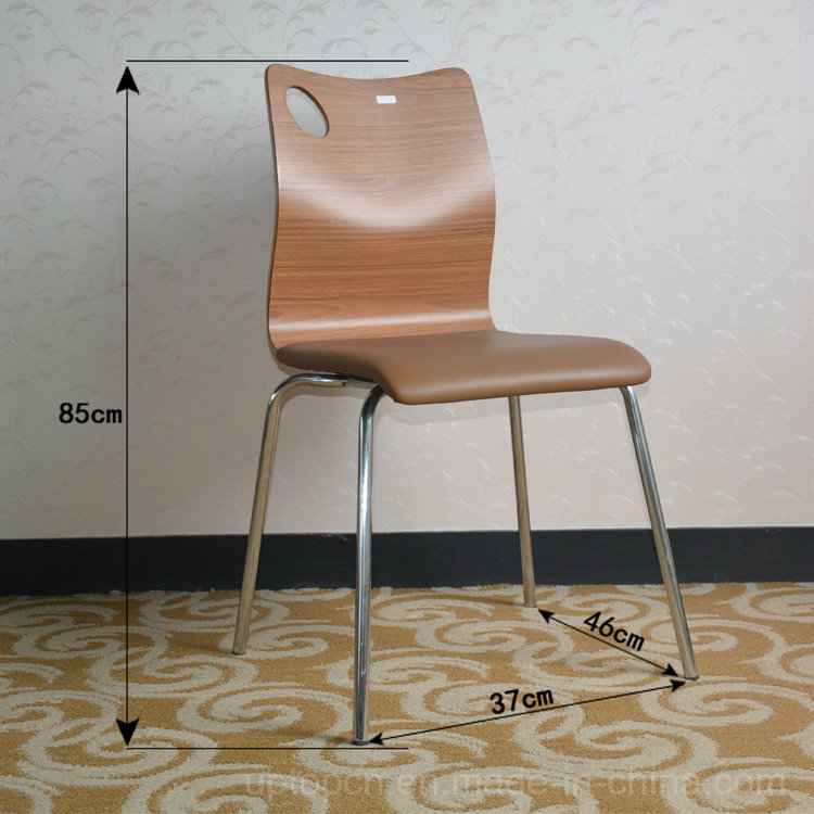 Fast Food Cafeteria Furniture Plywood Table and Chair Set (SP-CT507)