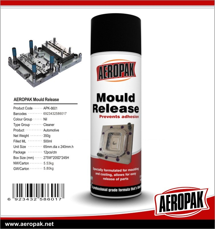 Aeropak Mould Releaser Spray, Silicone Oil Spray