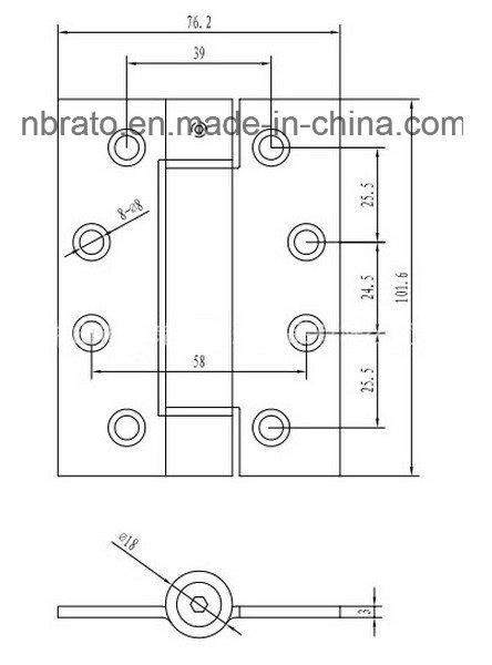 High Quality Satin Nickel Door Hinge