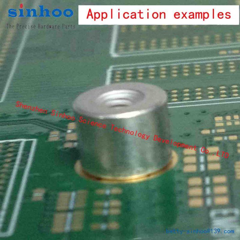 PCB Nut, /PCB Standoffs, /Weld Nut, /Smtso-M3-6et, Tape Package, Stock on Hand, Steel, Reel