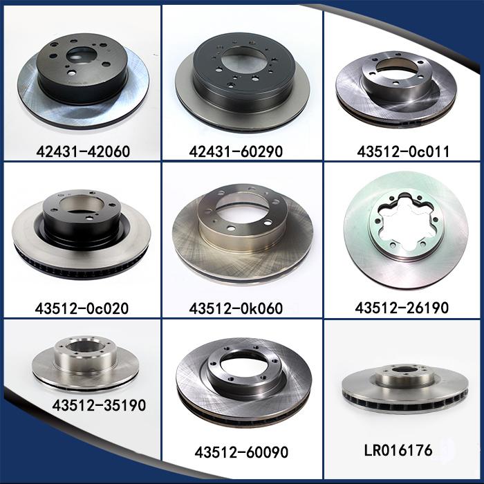 Car Disc Brake Rotor for Toyota Prius Auto Parts 43512-47020