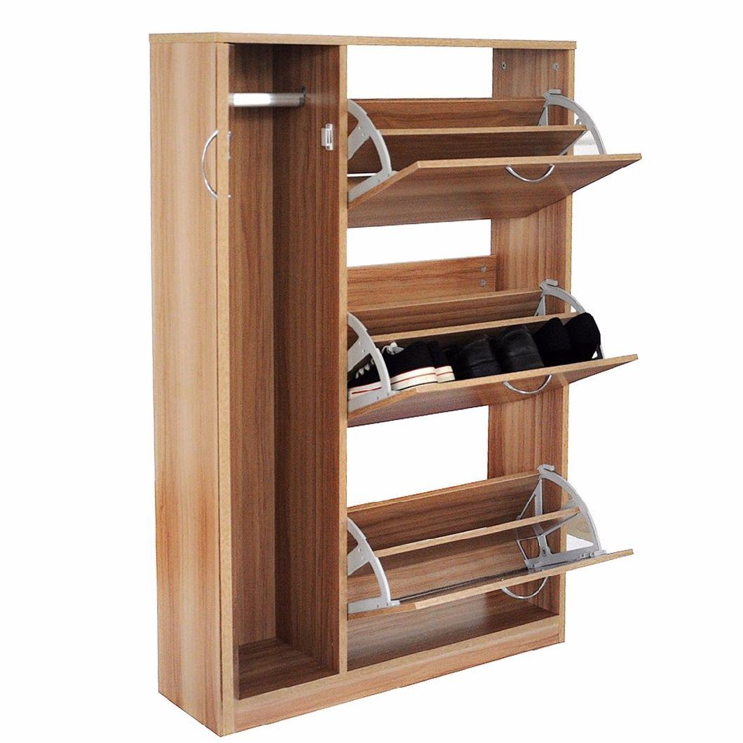 3 Tiers Shoe Rack Cabinet Stand Rack Wooden Shoe Cabinet
