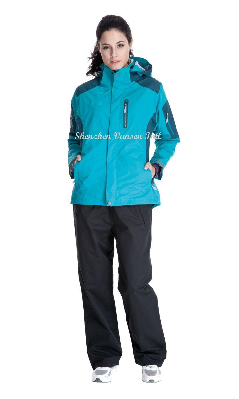 Unisex Hooded Waterproof Rain Gear for Mountining