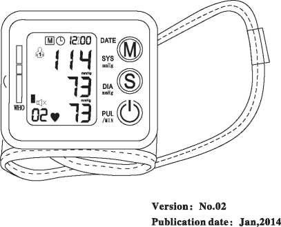Rechargeable Digital Blood Pressure Monitor for Warranty Period 1 Year