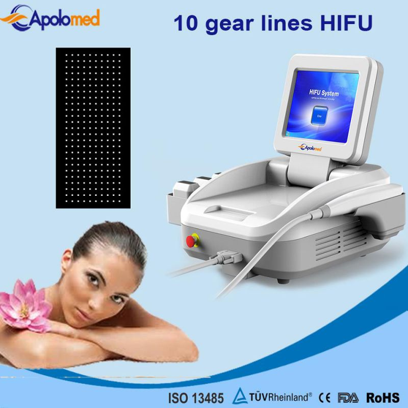 10lines Hifu Machine for Face Lifting