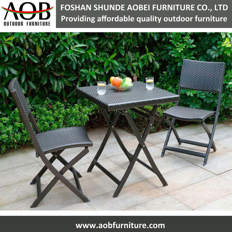3PCS Folding Bistro Chair Set Home Garden Furniture Set