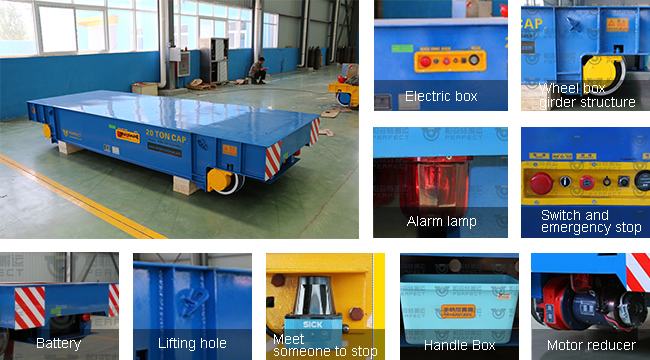 25 Ton Electric Transfer Cart Rail Trolley for Steel Mill