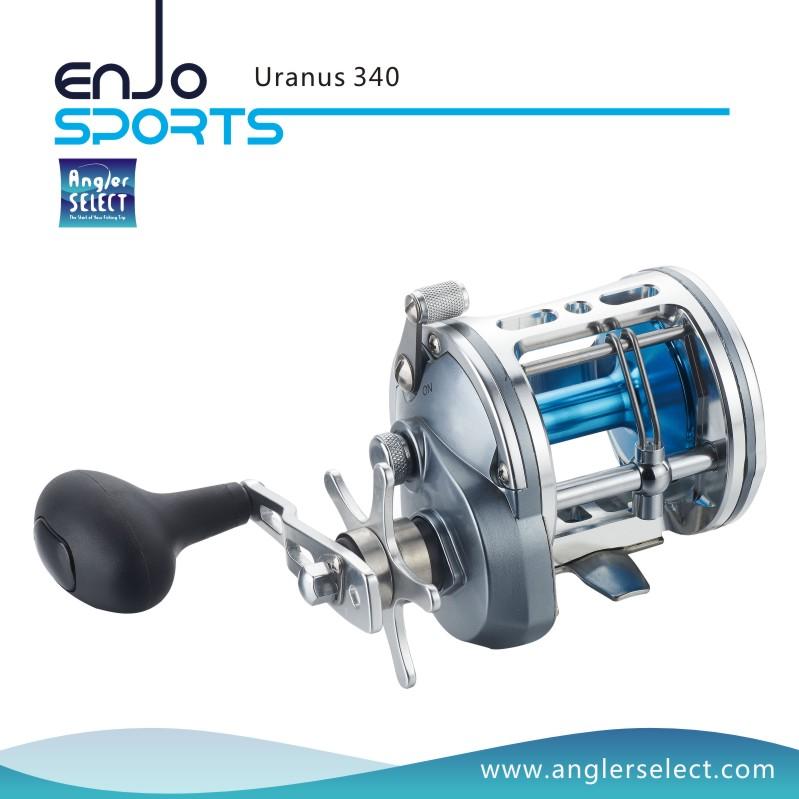 Angler Select Uranus Sea Fishing Trolling Reel A6061-T6 Aluminium Body 5+1 Bearing Fishing Tackle Reel (Uranus 340)