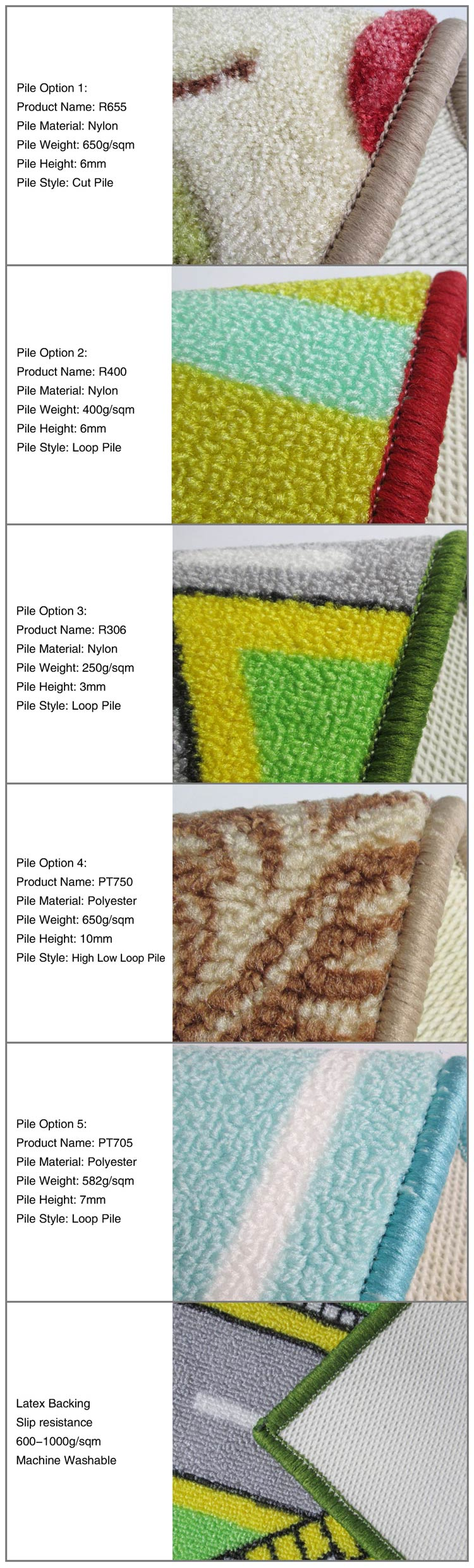 Custom Made Dust Control Door Mat Carpet