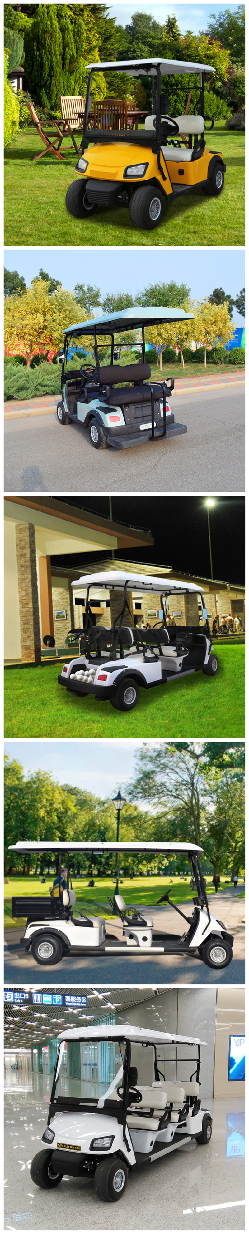 Airport/Seaport/Train Station Widely Used Golf Carts 2/4/6 Seats or with Box