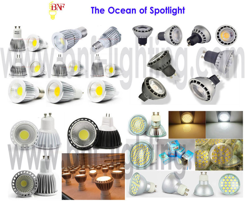 GU10 LED COB Thermalplastic Spotlight for 3W/5W/7W with Ce Saso
