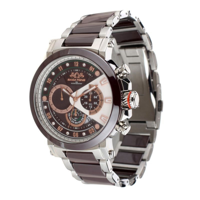 Badatong Stainless Steel and Ceramic Chronograph Watches Men