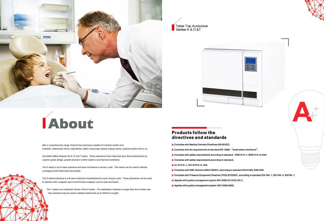 Dental Equipment 18L Benchtop Autoclave Class B Medical Autoclave Sterilizers Ste-18-D
