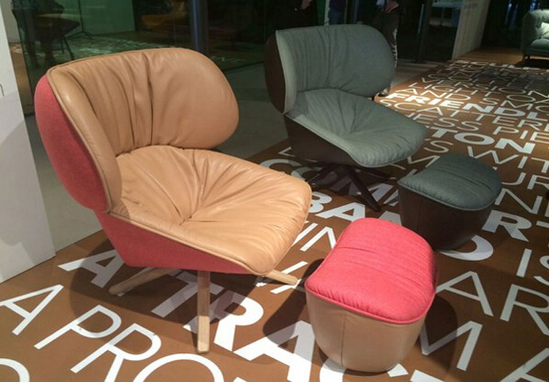 Fabric Sofa Seat Lounge Chairs with Metal Legs