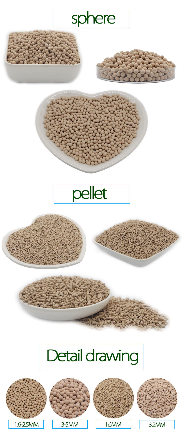Xintao 5A Molecular Sieve for High Purity N2, O2, H2 Production