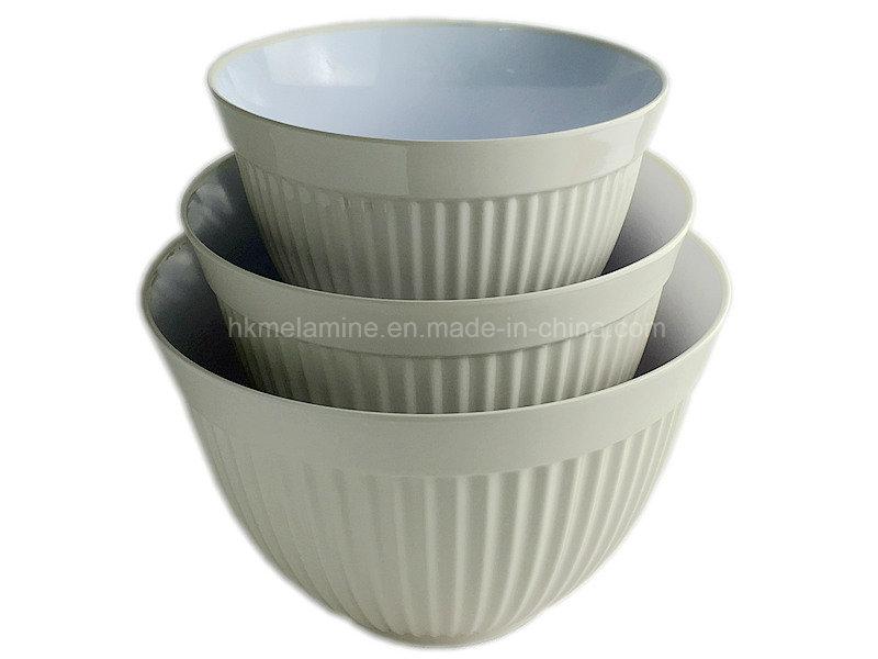 3PCS Melamine Mixing Salad Bowl (BW4609)