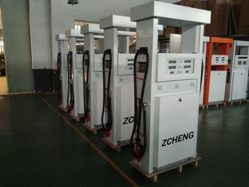 Zcheng White Color Petrol Station Double Pump Fuel Dispenser