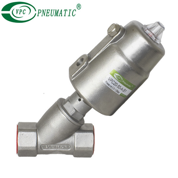 Full Stainless Steel Pneumatic Actuator Angle Seat Valve