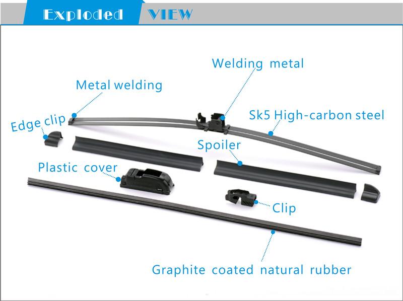 China Car Accessories Colored Windshield Wiper Manufacturer