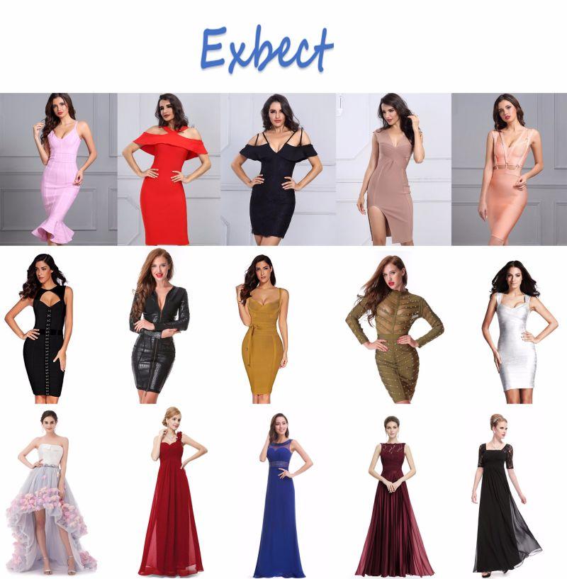 A Line Halter Evening Dress