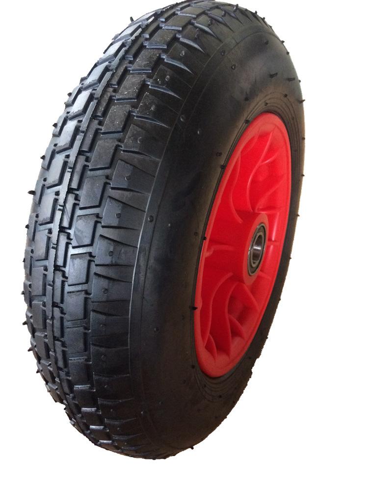 4.00-8 Wheelbarrow Tyre with Plastic Rim