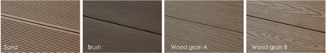Wood Plastic Composite Hollow Decking for Outdoor (HLM19)